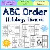 Holiday ABC Order Sorts