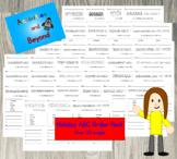 Holiday ABC Order Worksheets - Alphabet - Season, Back to School, Birthday