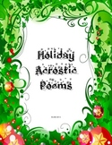 Holiday Acrostic Poem Packet with Rubric