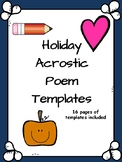Holiday Acrostic Poem Templates