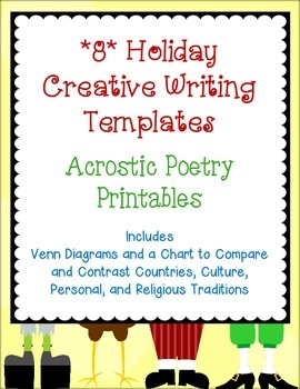 FREE Acrostic Poetry Templates *8* Holidays-Creative Writi
