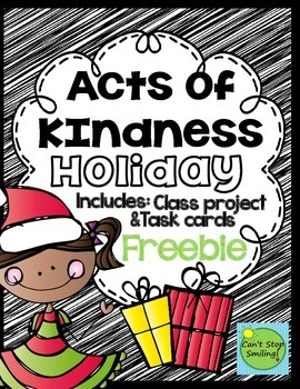 Holiday Act of Kindness  Class Project