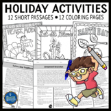 Holiday Passages and Coloring Pages