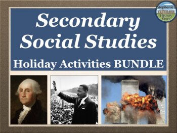 Holiday Activities Bundle for Social Studies