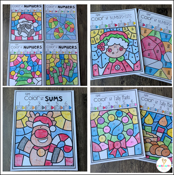 Holiday Activities Color by Skills for Preschool and Kindergarten (Christmas)