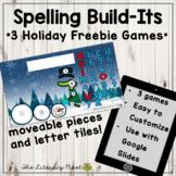 Holiday Activities: Spelling Tiles | FREEBIE Google Slides