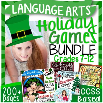 Holiday Activities Growing Bundle - Middle & High School L