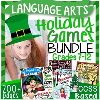 Multi Holiday Activities Fun + Challenging MEGA Bundle Middle & High School ELA