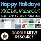 Holiday Activities - Holiday Escape Room - Holiday Breakout - Digital