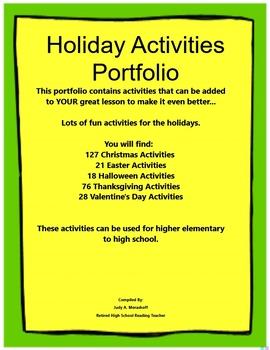 Holiday Activities Portfolio