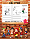 Holiday Activities Writing Worksheets Story Pictures