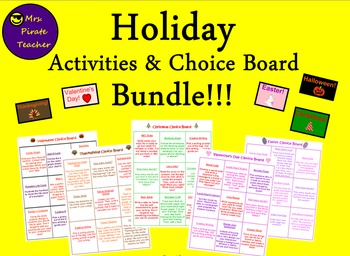 Holiday Activities and Choice Boards Bundle!