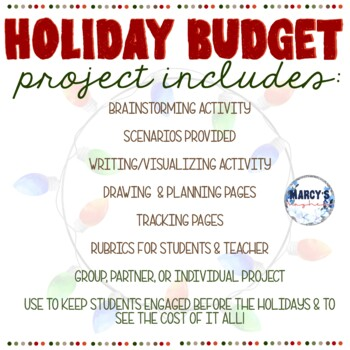Christmas Activities: 4th & 5th grade Holiday Project for Budgeting
