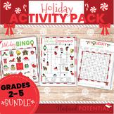 Christmas Activity Bundle **Bingo, Crossword, Word Search*