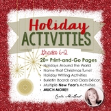 Christmas & Winter Holiday Activities: 20+ Pgs of Fun Acti