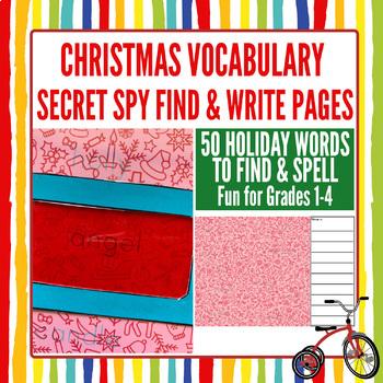 Holiday Activity Pack: Secret Spy Christmas Vocabulary