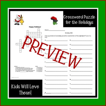 Holiday Activity Packet
