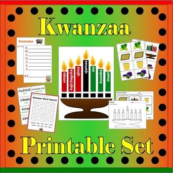 Holiday Activity Sheets Bundle (Christmas, Kwanzaa, Hanukkah)