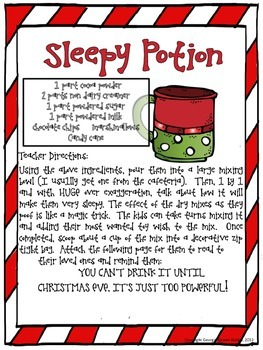 Christmas Sleepy Potion
