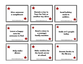 Holiday Acts Of Kindness For Kids