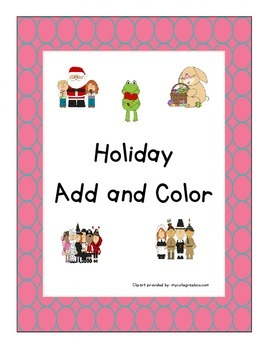 Holiday Add and Color Pack (Sums within 5)