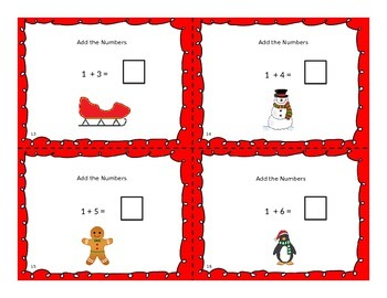 Holiday Adding Task Cards