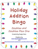 Holiday Addition Bingo