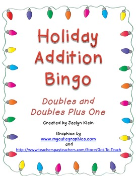 Holiday Addition Bingo