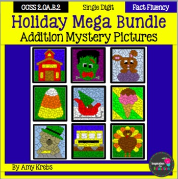 Holiday Addition Mystery Pictures - MEGA BUNDLE