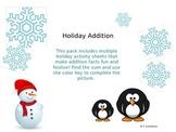 Holiday Addition Sheets
