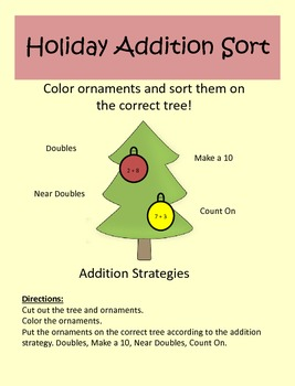 Holiday Addition Sort