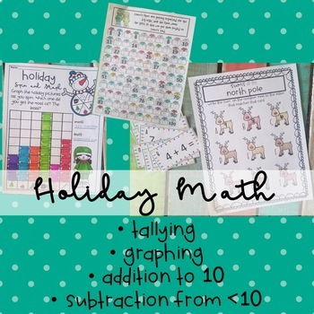 Holiday Addition Subtraction Graphing