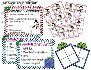 Holiday Addition and Subtraction Math Centers