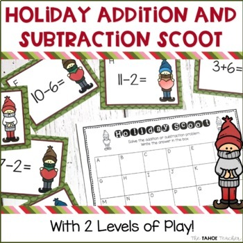 Holiday Addition and Subtraction Scoot