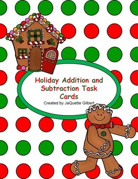 Holiday Addition and Subtraction Task Cards