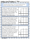 Holiday Addition and Subtraction Word Problems with Regrouping