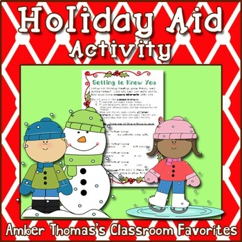 Holiday Aid for Low Income Students Printout #kindnessnation