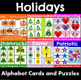 Holiday Alphabet Cards and Puzzles Bundle