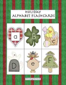 Holiday Alphabet Flashcards