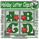 Holiday Alphabet & Number Clip Set Commercial and Personal Use