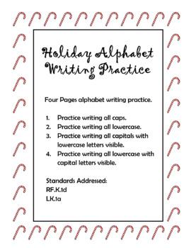 Holiday Alphabet Writing Practice