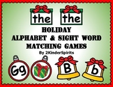 Holiday Alphabet and Sight Word Games