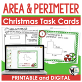 Holiday Area and Perimeter Task Cards
