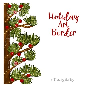 Holiday Art Border, holiday clip art Printable Tracey Gurley Designs