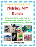 Holiday Art Bundle - January, February, March