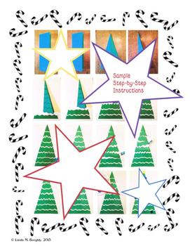 Christmas Tree Art - PLUS - Writing Lesson & Memory Game