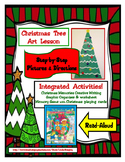 Christmas Tree Art - PLUS - Writing Lesson & Memory Game