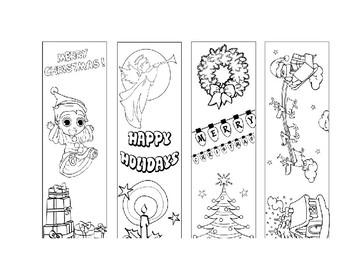 Holiday Art Gift Tags or Coupons, and Bookmarks!