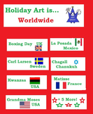 Worldwide Holidays in December (12 Open-Ended  Art Worksheets)