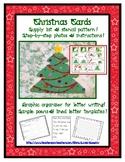 Christmas Tree Holiday Card - Art & Writing Lesson